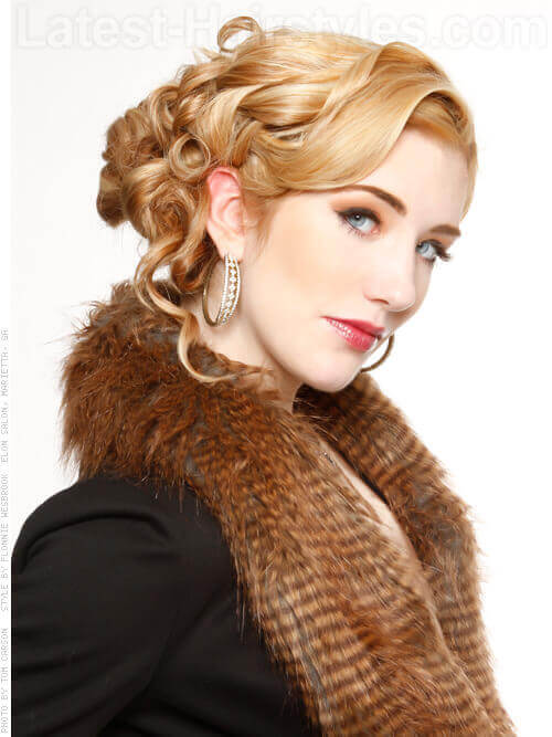 Interwoven Mane Blonde Updo