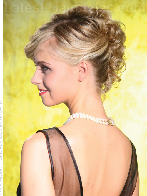 Nupital Nuance Updo with Fringe Curls In Back