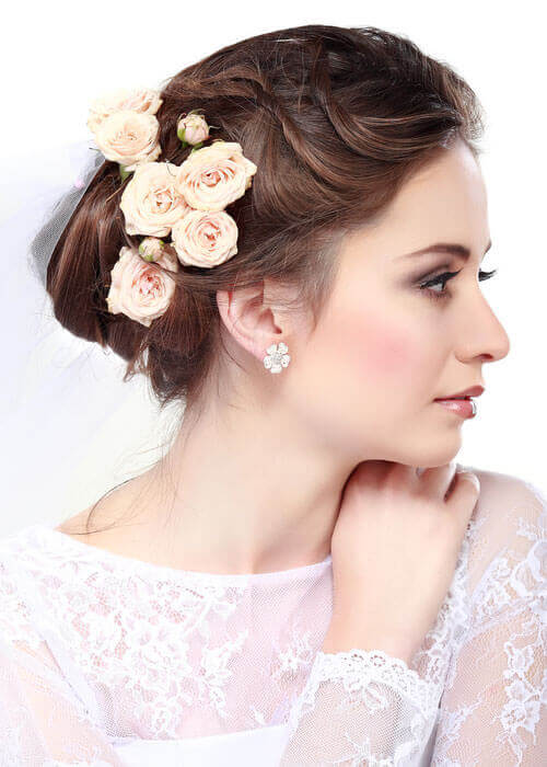 Old World Cluster Flower Hairpiece