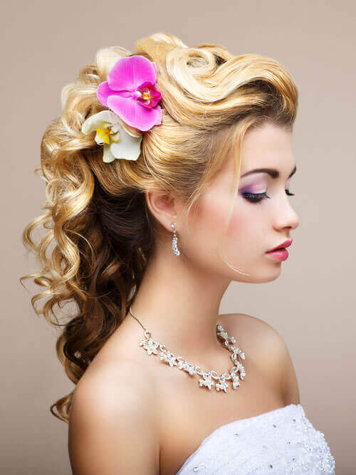 Pretty Pastels Hair Piece for Wedding