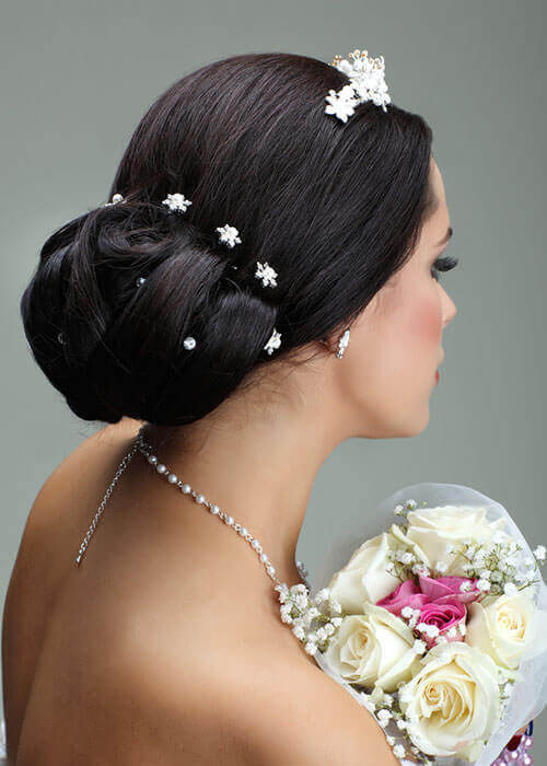 Spin Pin Flower Hairpiece