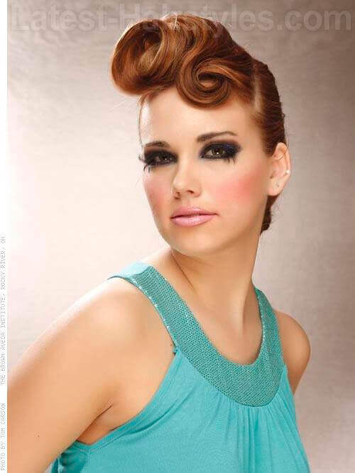 Victory Rolls Chic Smooth Updo View 2