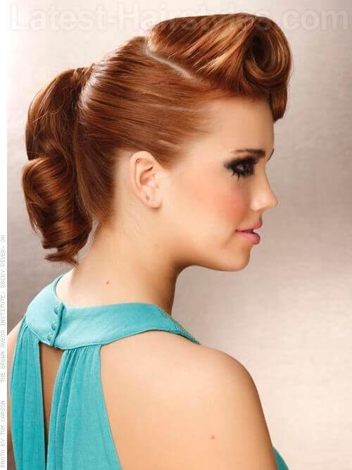 Victory Rolls Chic Smooth Updo