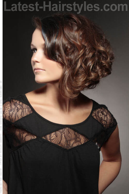 Voluminous Bob Wedding Style