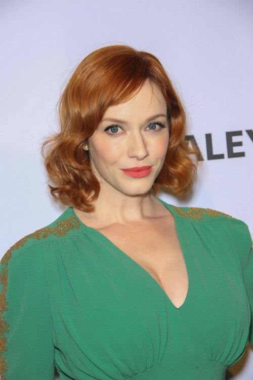 Christina Hendricks Short Retro Hairstyle