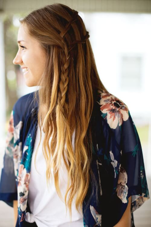 Double Waterfall Twist - Different Ways to Do a Waterfall Braid
