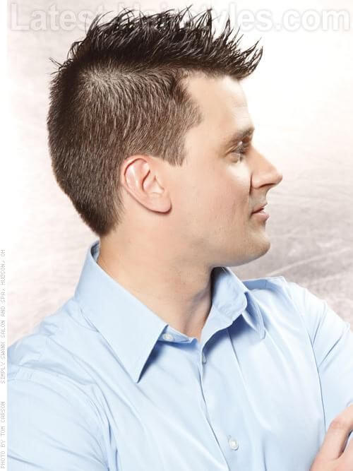 Easy Hairstyle for Men with Texture Side View