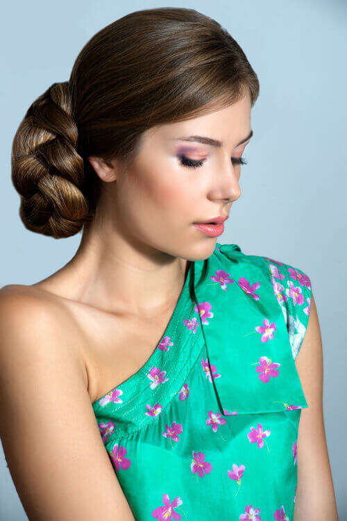 This simple yet elegant braided bun is an easy updo to achieve this