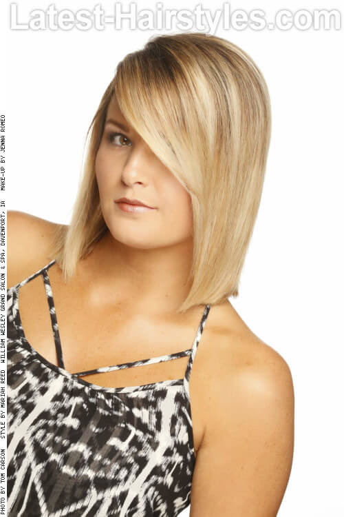 Hairstyle with Beachy Blonde Highlights