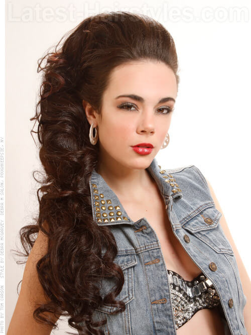 Long Updo with Curls Hairstyle