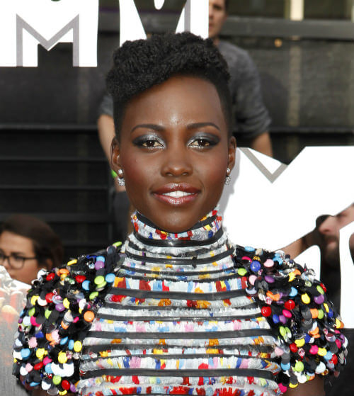 Lupita Nyongo Short Hairstyle with Texture