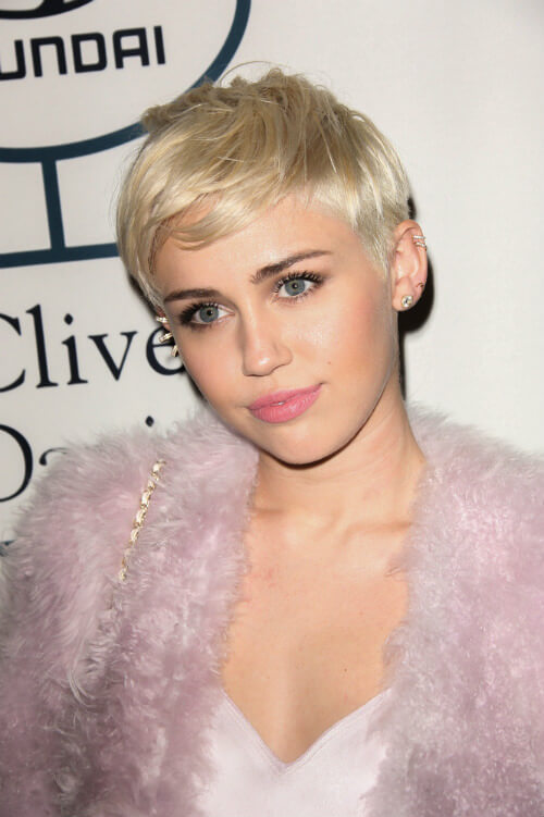 Miley Cyrus Celebrity Short Hairstyles