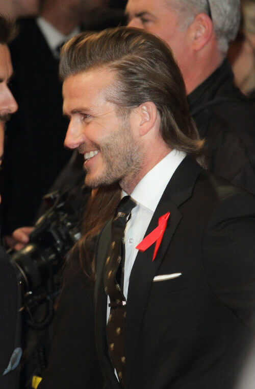 Modern Slicked Back Mullet Hairstyle for Men