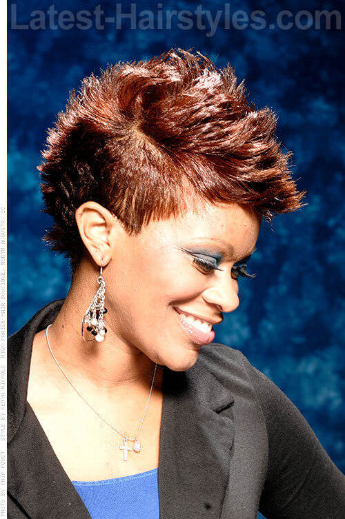 Sassy Short Mohawk African American Hairstyle