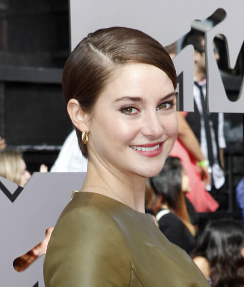 Shailene Woodley Short Slicked Back Hairstyle