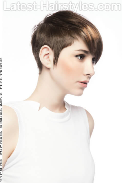 Short Pixie Hairstyle with Fringe Side
