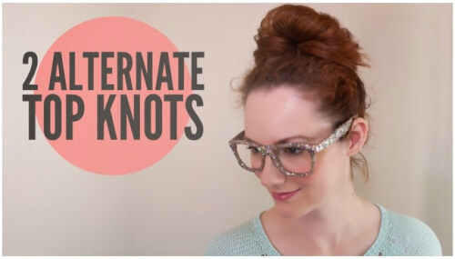 Two Alternate Top Knots
