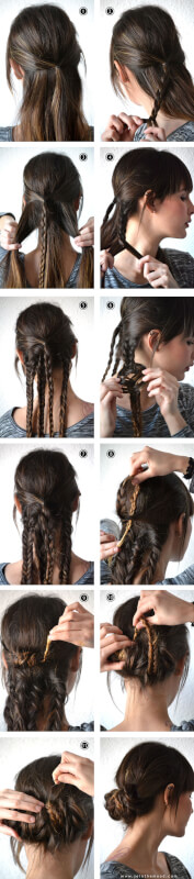 Wrapped Braid Summer Updo