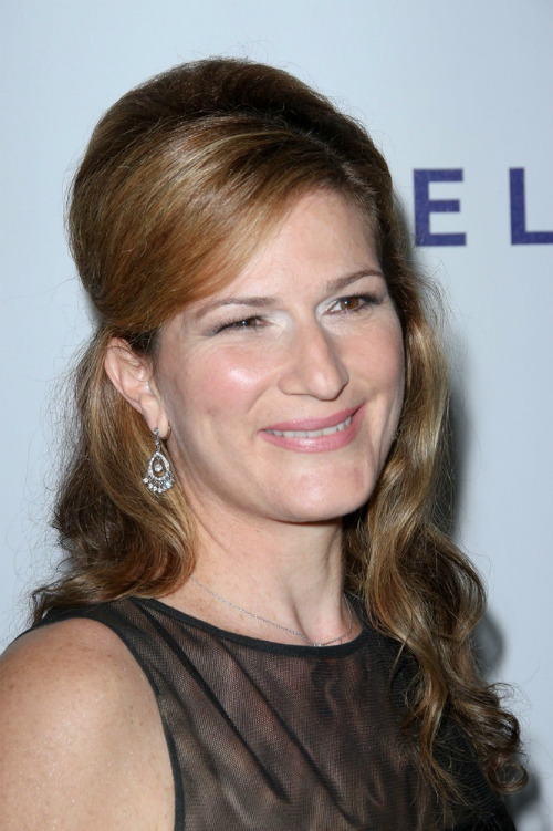 Ana Gasteyer Half Updo with Curls
