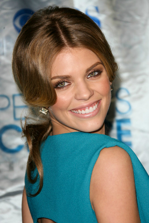 AnnaLynne McCord Wavy Ponytail Celebrity Hairstyle