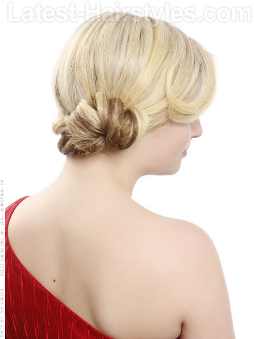 Blonde Side Bun Hairstyle Side View