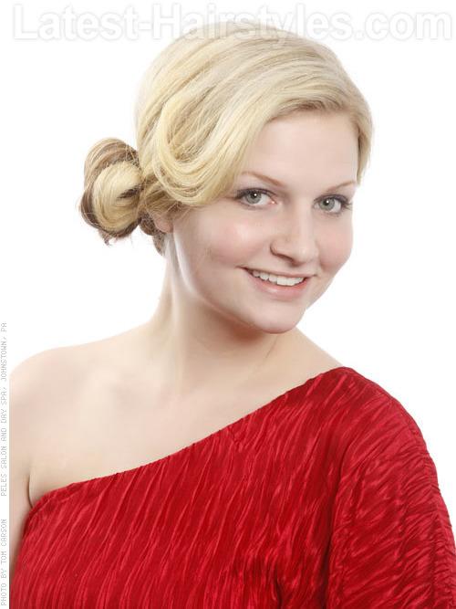 Blonde Side Bun Hairstyle