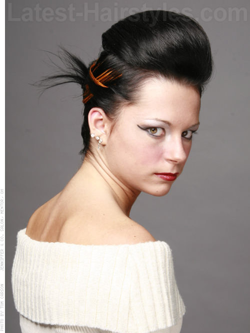 Bouffant Bun with Highlights