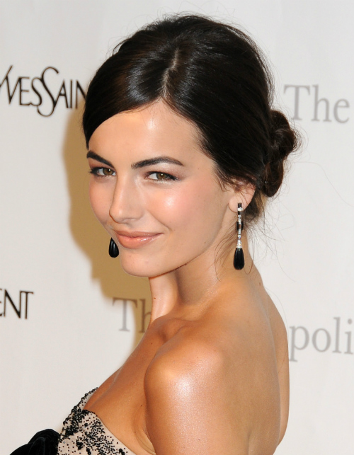 Camilla Belle Low Bun with Deep Side Part