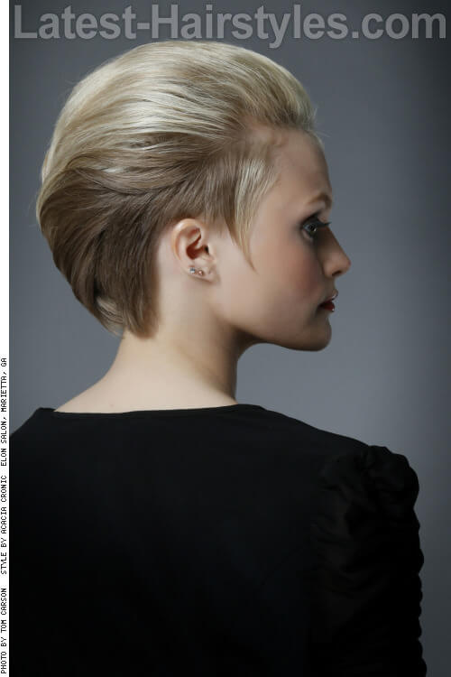 Chic Short Hairstyle for Summer Back