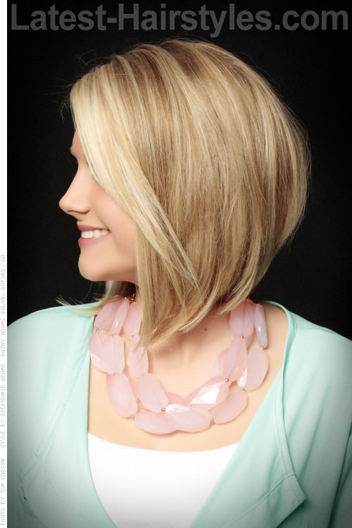 Easy Blonde Long Bob Professional Hairstyle Side View