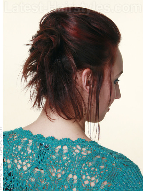 Easy Funky Professional Ponytail for Work Back View