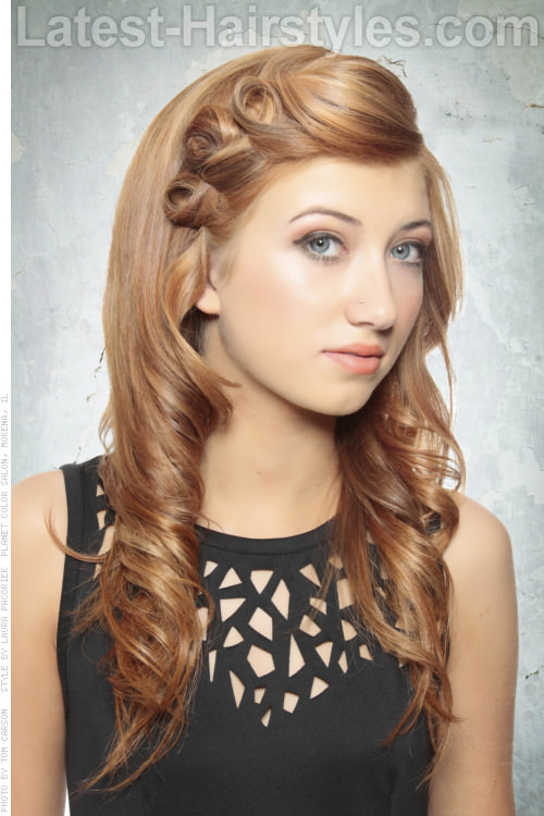 Elegant Hairstyle with Pin Curls