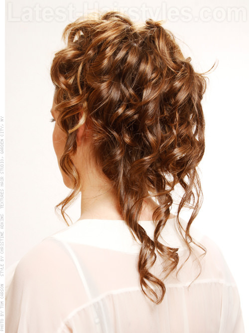 Elegant Updo with Curls Back View