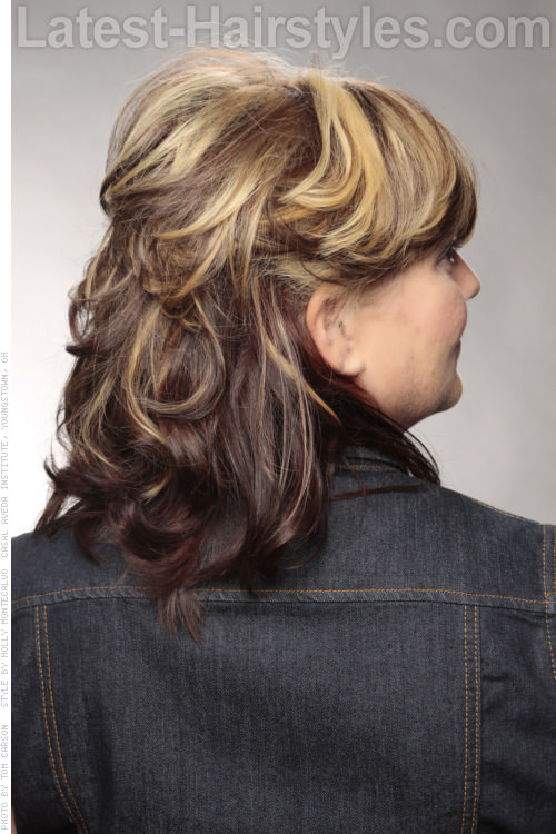Highlighted Bob Pro Hairstyle with Fringe Back View