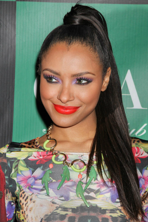 Kat Graham Sleek High Ponytail