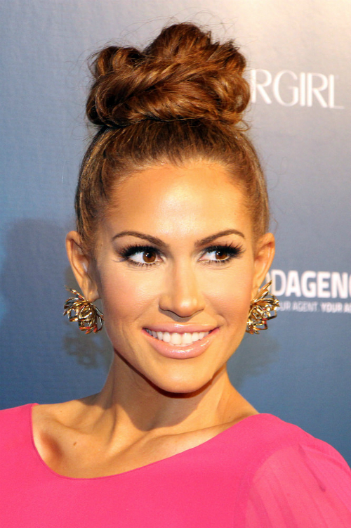 Kimberly Cole Layered Bun Hairstyle