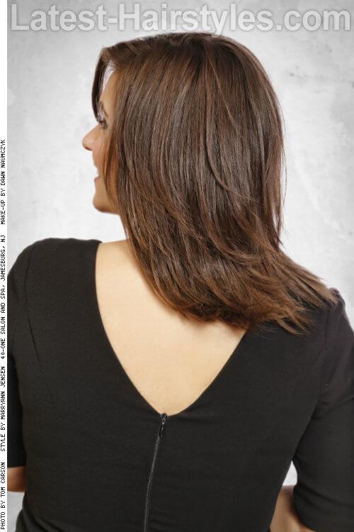 Light Brown Highlights on Dark Brown Haircolor Side