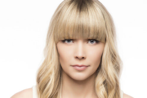 Long Blonde Hairstyle for Summer with Bangs
