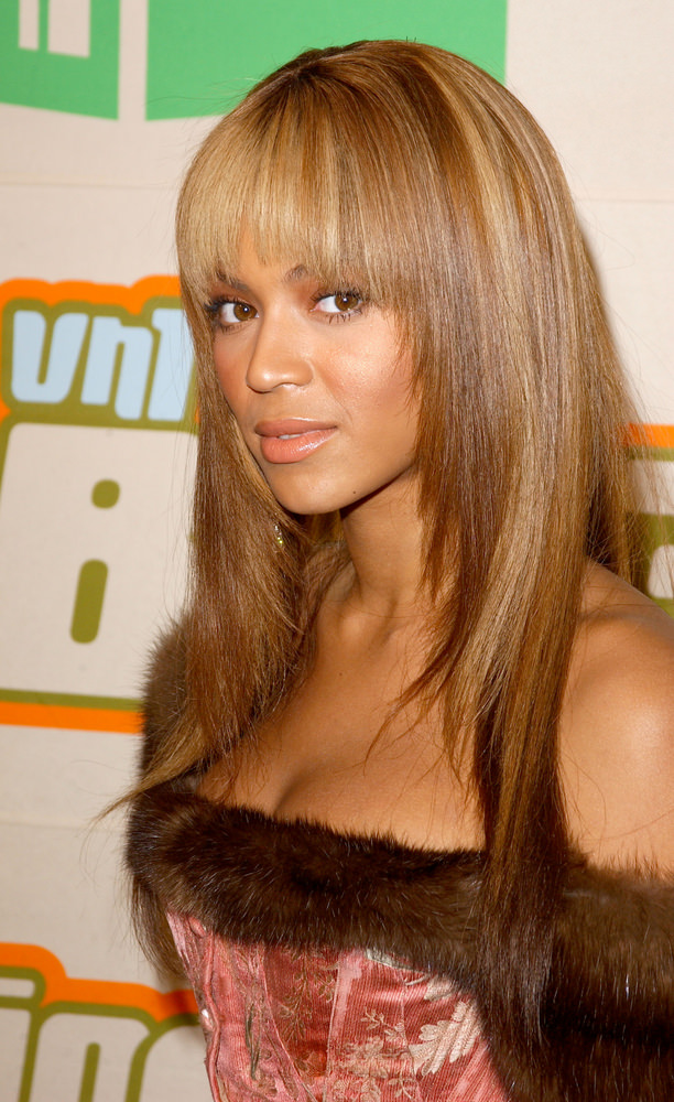 Long Natural Weave Hairstyles with Fringe and Layers