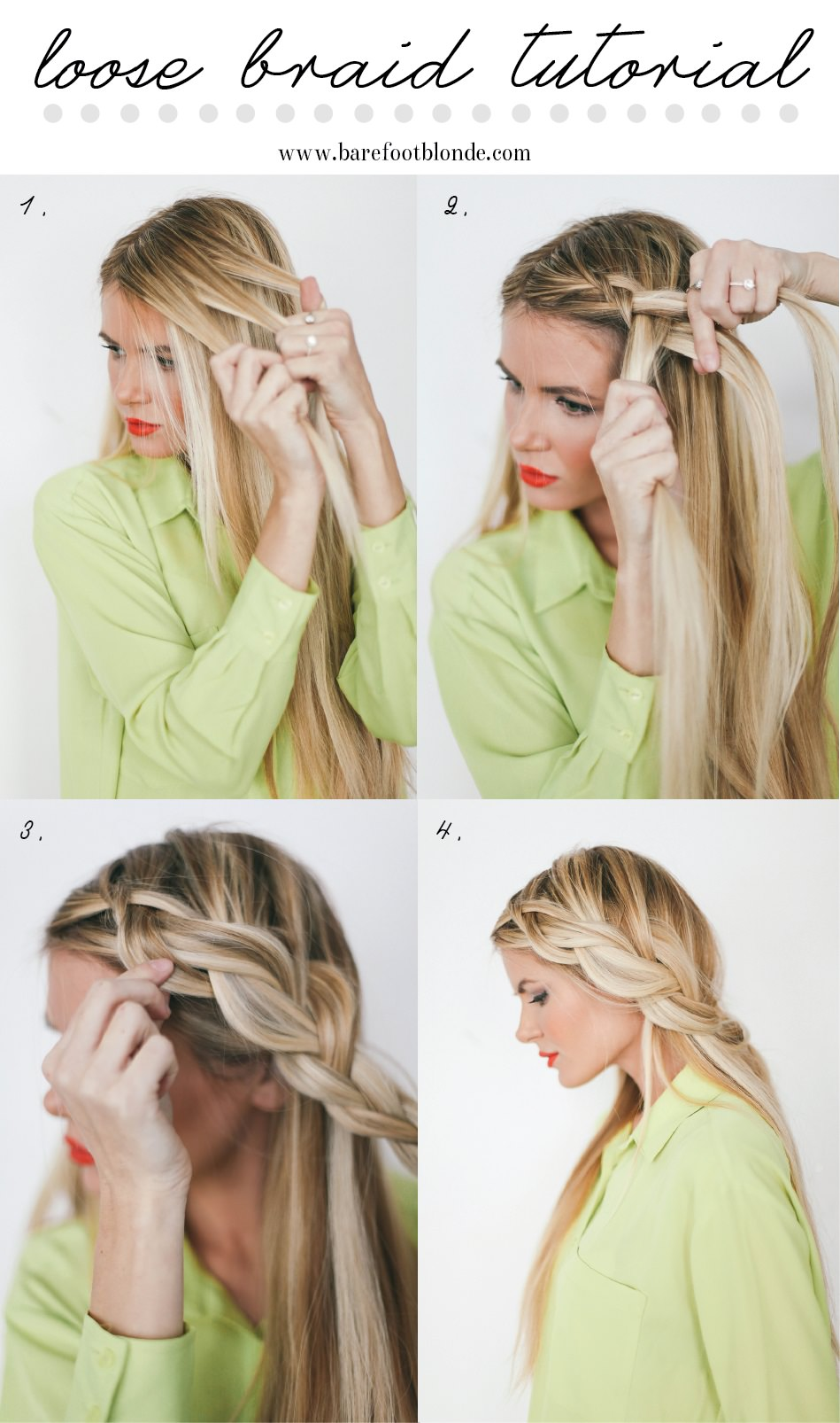 Summer Hairstyles Loose Braid Tutorial