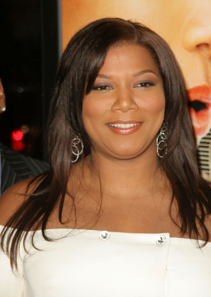 Queen Latifah Hairstyle with Layers and Side Bang