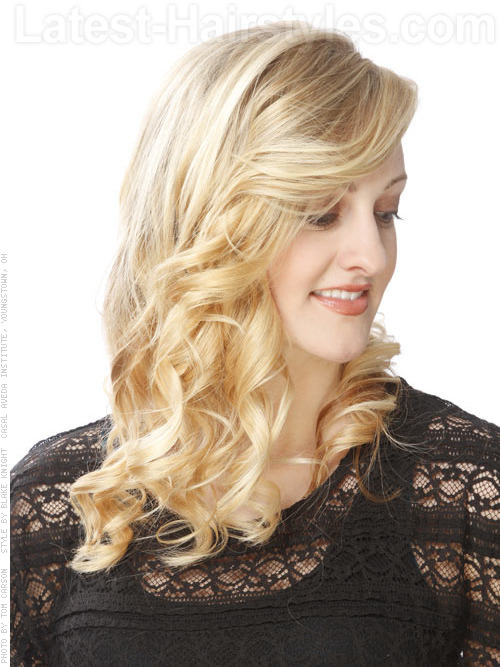 Simple Elegant Hairstyle with Curls Side View