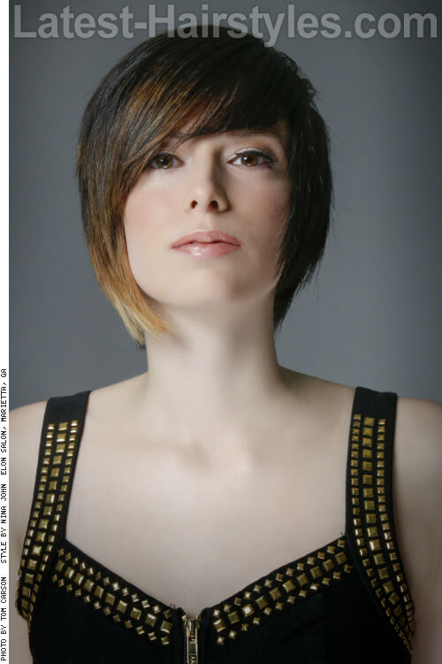 Smooth Short Layered Crop Hairstyle