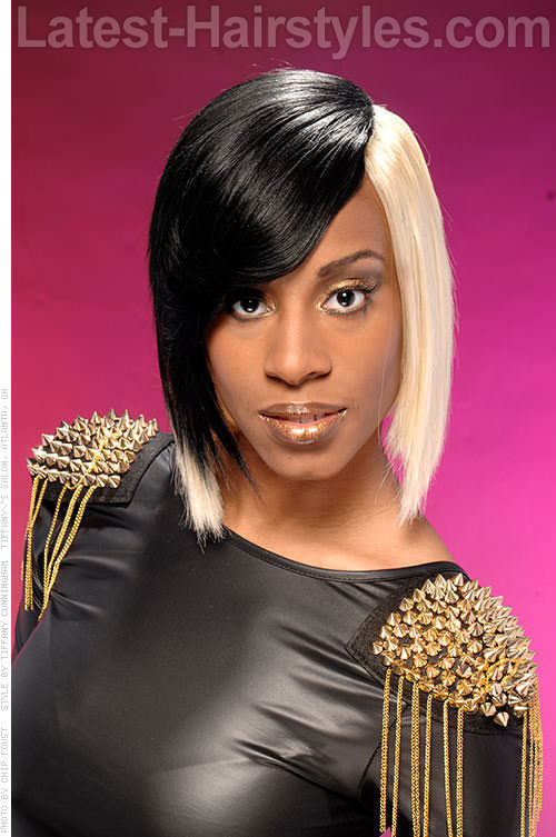 Two Tone Weave Hairstyle