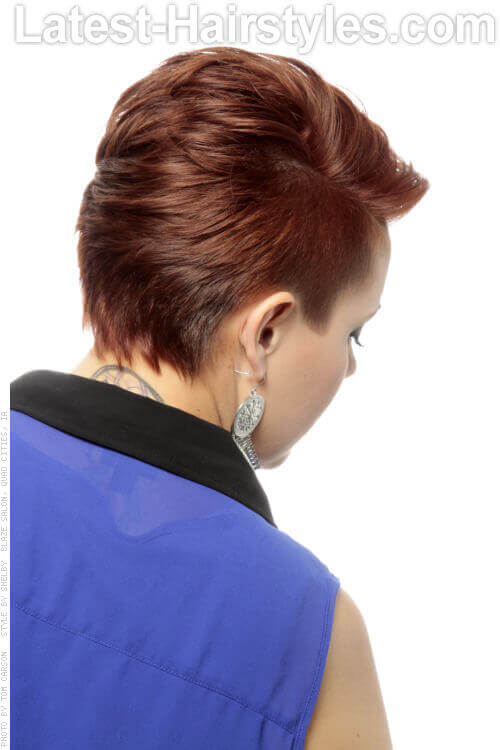 Undercut Hairstyle with Side Part Back