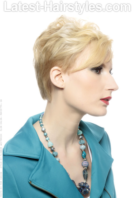 Versatile Pixie Hairstyle with Fringe Side View