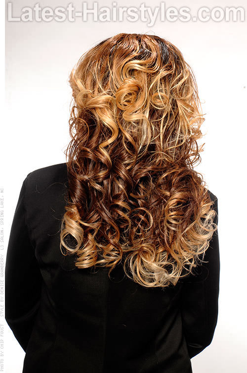 Weave Hairstyle with Invisible Part Back View