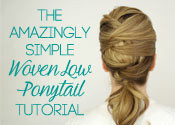 Woven Low Ponytail Tutorial