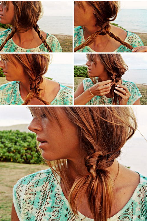 Knotted Side Pony Summer Hairstyle