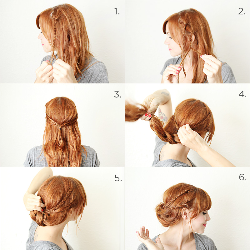Braided Chignon Tuck